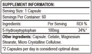 5-HTP Nutritional Info