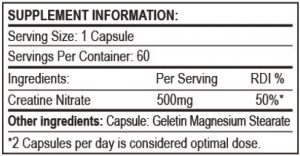 Creatine Nitrate Nutritional Info